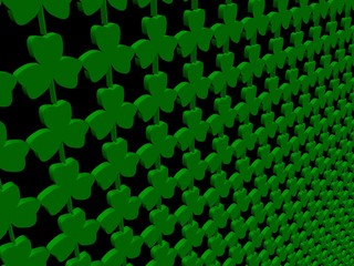 shamrock 3d render background