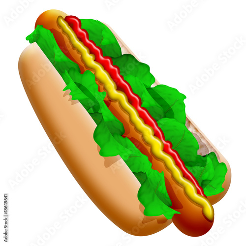 Panino con wurstel-Salsiccia-Fast Food Hot Dog