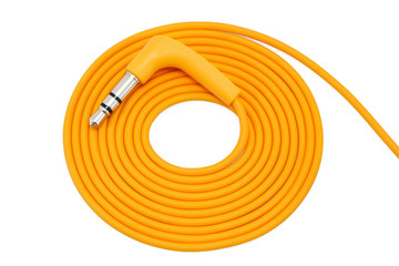 Wrapped orange cable