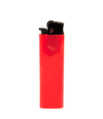 red lighter on white