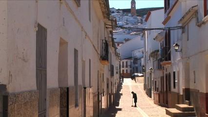 Quiet Spanish Village in summer