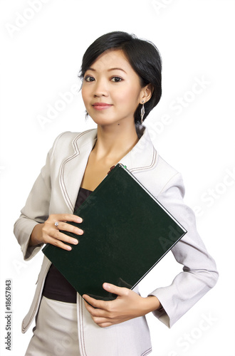 Business Woman Holding Book