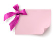 Pink gift tag with bow