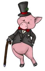 Sylvester, Silvester, Neujahr, Schwein, Glück