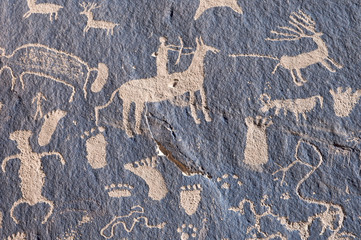 Indian petroglyph Newspaper Rock in Canyonlands