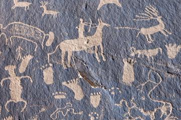 Indian petroglyph Newspaper Rock in Canyonlands