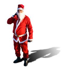Santa im roten Kostüm
