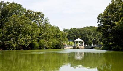 Gazebo and Walkway Across Green Lake