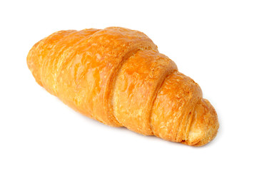 Croissant on white background.