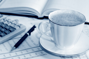 Coffee and accounting.