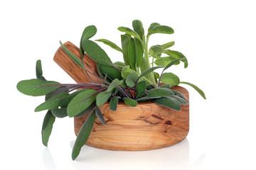 Sage Herb Leaves