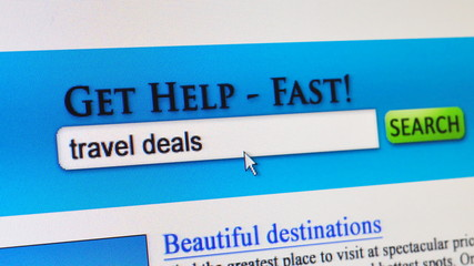 Travel deals - fictional search engine