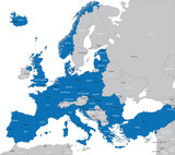 Members of NATO in Europe poster