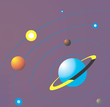 Illustration of a planets in solar system