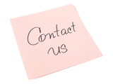 contact us handwritten message poster