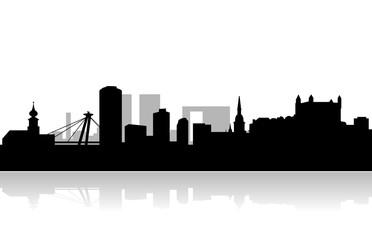 bratislava vector skyline