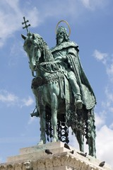 st. Stephen statue in Budapest