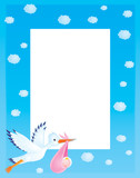 "Photo frame ""Stork with newborn"""