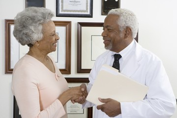 Senior medical practitioner and client