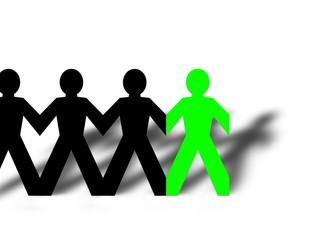 Group Man Green