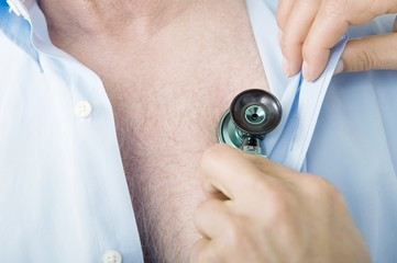 Medical examination with Stethoscope
