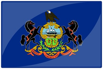 drapeau glassy pennsylvanie pennsylvania flag