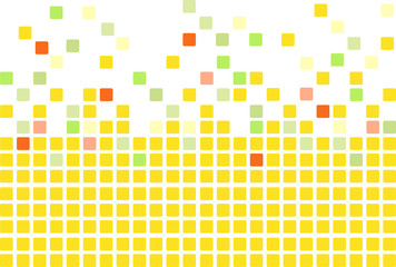 Simple mosaic tiles background in yellow color