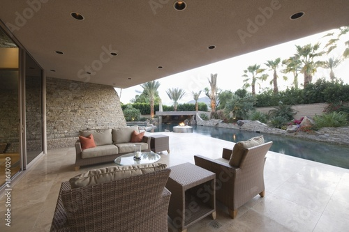 Outdoor room of Palm Springs home