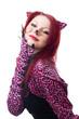 Beautiful cat woman