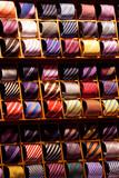 Showcase of silk ties on Italian marketplace poster