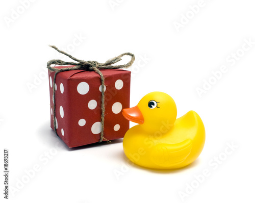 Plastic yellow duck toy and gift
