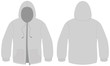 Hooded sweater with zipper template vector illustration