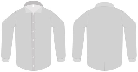 Dress shirt or blouse template vector illustration
