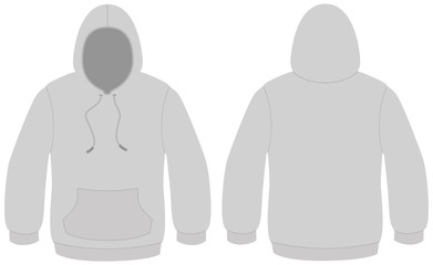 Hooded sweater template vector illustration