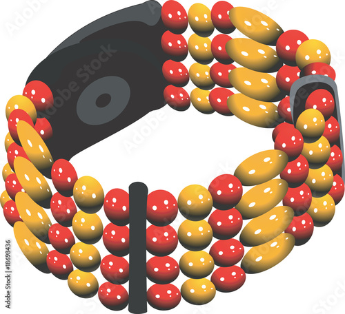 Illustration of multicoloured bracelet