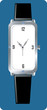Illustration of silver colour  wrist watch
