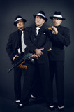 Three gangsters. Gangster gang poster