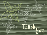 multicolor background with flowers and thankyou text