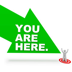 You are Here - Arrow and Person