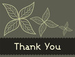 green background with yellow flowers and thankyou text