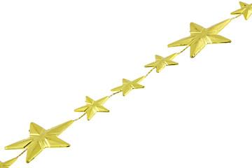 diagonale guirlande étoiles dorées décoration Noël fond blanc