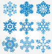 collection of 9 snowflakes
