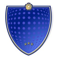 Schild- blau