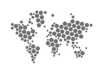 World digital dot map network illustration