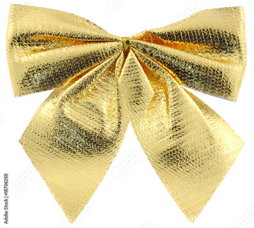 Noeud papillon dor d coration sapin no l fond blanc for Noeud decoration noel