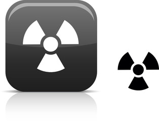 Radiation  beautiful icon. Vector illustration.