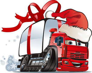 Vector Christmas delivery / cargo truck