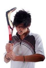 Tennis - Adolescent en colère