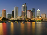 Colorful downtown of Tampa poster