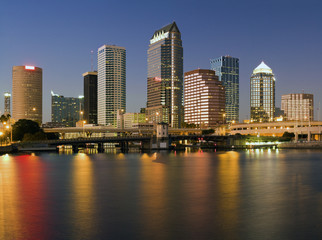 Colorful downtown of Tampa